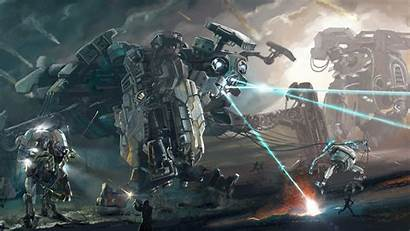 Robot Battle War Fantasy Mech Mecha Wallpapers
