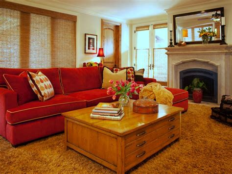 Dark Brown Couch Decorating Ideas by 25 Red Living Room Designs Decorating Ideas Design