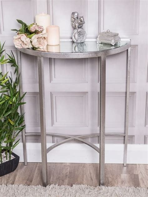 Buy half moon coffee tables at macys.com! Silver Mirrored Half Moon Table | Half moon table, Modern table lamp, Mirrored side tables
