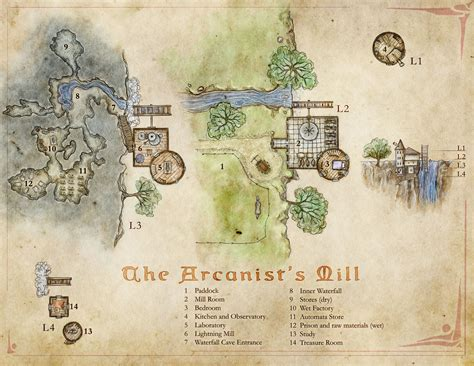 arcanists mill  wizards tower map   twist