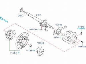 2017 Subaru Crosstrek 2 0l Cvt Premium Steering Column