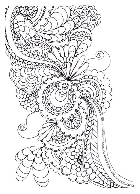 zen anti stress  print drawing flowers anti stress adult coloring pages