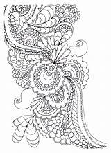 Zen Drawing Stress Flowers Anti Coloring Adult Pages sketch template