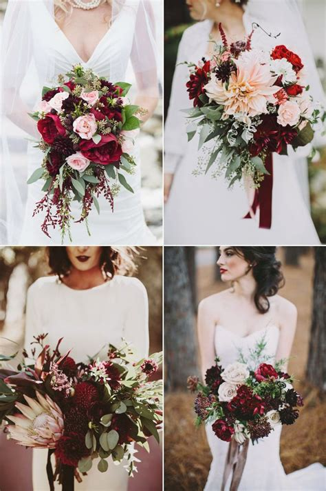 absolutely beautiful winter wedding bouquets greenery