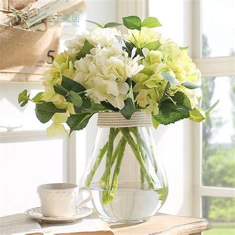 miz home  set transparent glass vase hydrangea flower set