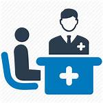 Icon Consultation Doctor Patient Consulting Medical Icons