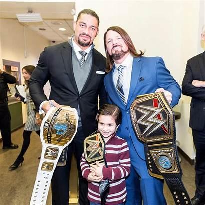 Wwe Roman Aj Champion Reigns Intercontinental Champions