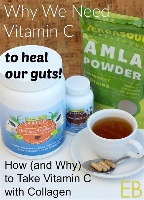 how and why to take vitamin c with collagen to heal