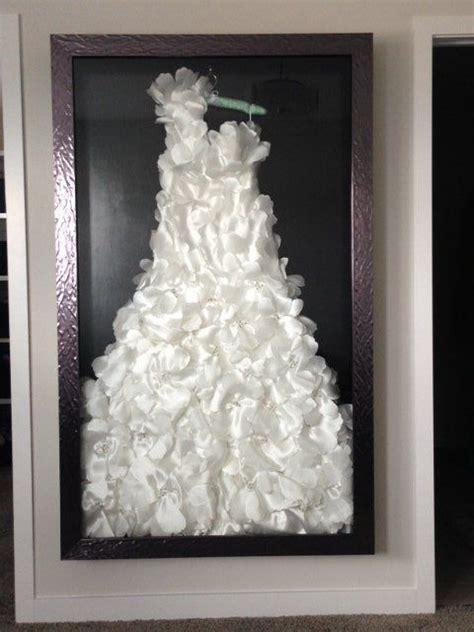 custom framed wedding dress shadow box organization