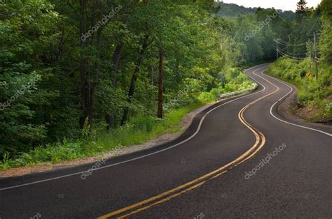 Curved Road in the Mountains — Stock Photo © RSTPIERR ...