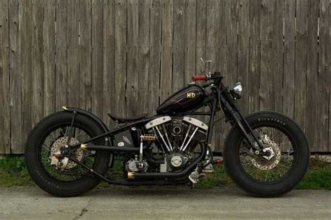 This S A Sweet Old School Harley-davidson Bobber