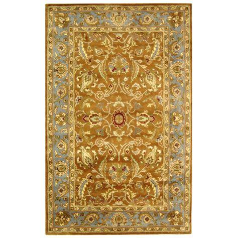 area rugs safavieh safavieh tufted heritage brown blue wool area rugs