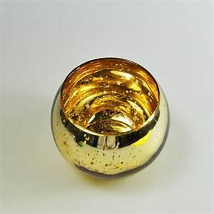 Bougeoir En Verre : bougeoir boule en verre mercuris or ~ Teatrodelosmanantiales.com Idées de Décoration