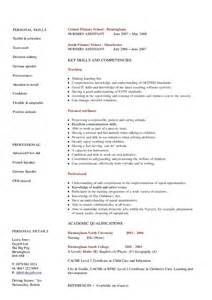 Resume For Nursery by Nursery Cv Hashdoc