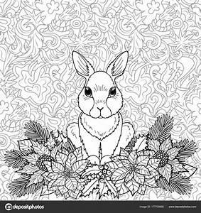 Winter Malvorlagen Kaninchen Stockvektor KronaLux