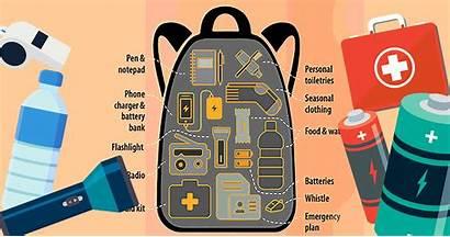 Emergency Kit Bag Grab Cartoon Earthquake Typhoon