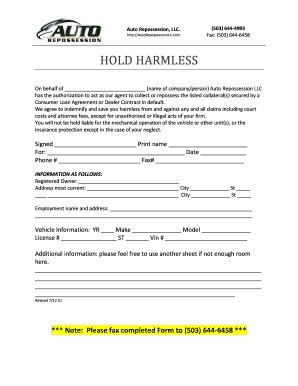 repossession order form fill  printable fillable
