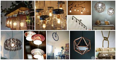 great diy light fixtures  repurposing  items