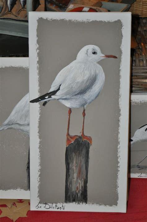 mouette rieuse peinture oiseau cadre peinture