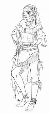 Deviantart Pirate Gypsy Oc Lineart Coloring Pages Adult Sheets Drawing Drawings Colouring Pirates Sketches Fantasy Deviant Digital sketch template