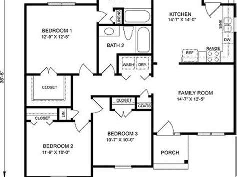 3 bedroom floor plans with garage 3 bedroom floor plans with garage mexzhouse com