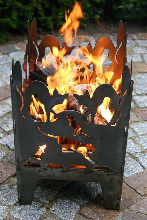 Holz Für Feuerkorb by Feuerkorb Motiv Quot Katze Quot 196 U 223 Erst Dekorativ F 252 R Garten Und