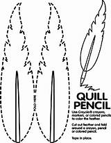 Quill Pencil Coloring Pages Colonial Crayola Presidents Feather Activities America Word Pencils Potter Harry Preschool Teaching Colored Kindergarten Mw Crayons sketch template