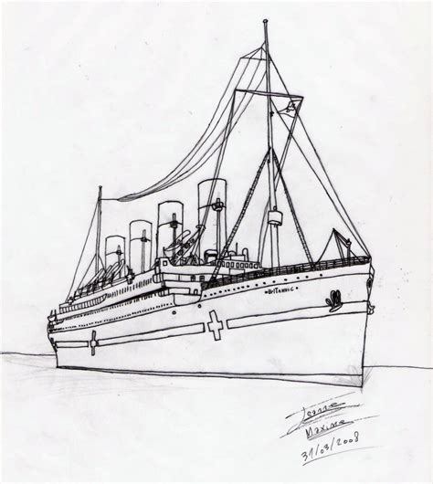 Britannic Coloring Pages