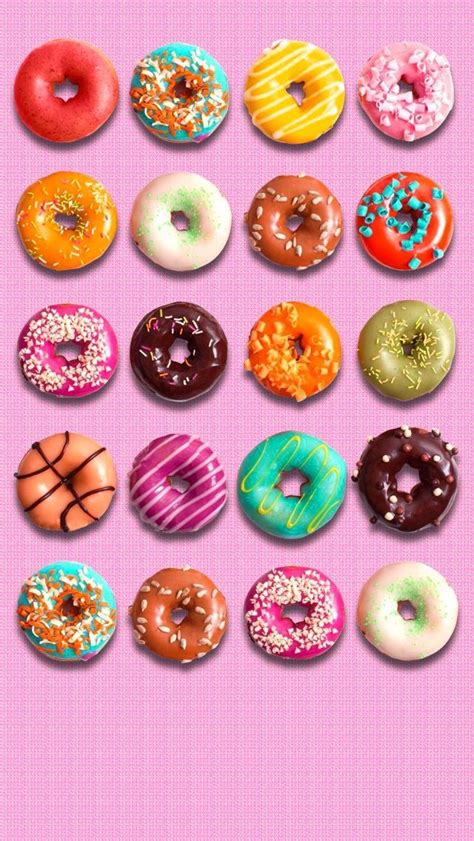 See more ideas about iphone wallpaper, cute wallpapers, iphone background. Pin by Jennifer Fleming on IPHONE~WALLPAPERS | Donut art, Food wallpaper, Food art