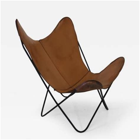 knoll hardoy leather butterfly chair