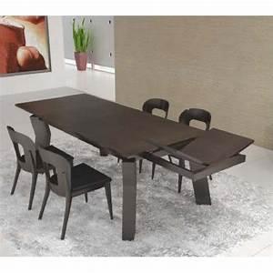 table de sejour design noire rectangulaire avec rallonge opium With tapis de marche avec canapé maga meuble