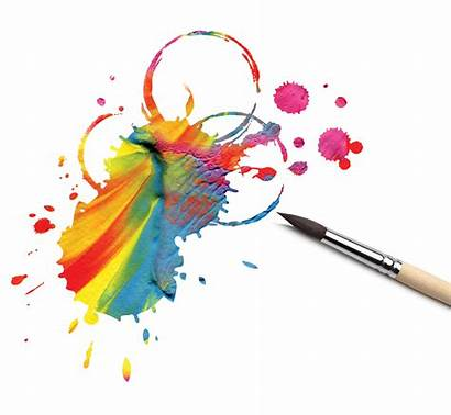 Paint Brush Action Artist Abstract Rainbow Research
