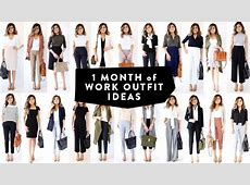 1 MONTH OF WORK OUTFIT IDEAS Professional Work Office