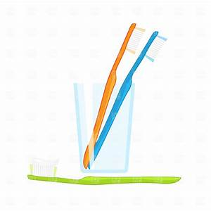 Toothbrush in glass Vector Image #1826 – RFclipart