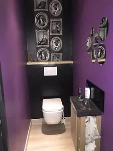 wc made in moi wc suspendu peinture prune leroy merlin With quelle couleur pour les wc 2 deco toilette idee et tendance pour des wc zen ou pop