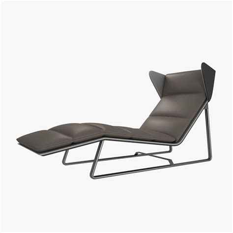 chaises moderne esedra romea modern chaise lounge 3d model max obj 3ds fbx