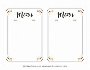 FREE Printable Thanksgiving Menu | MountainModernLife.com