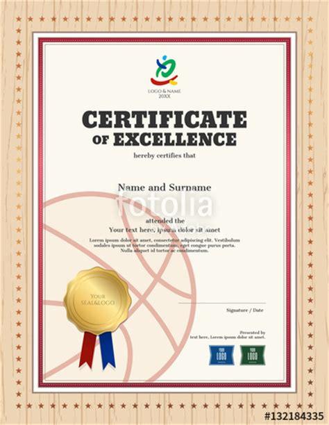 Baseball Achievement Certificate Baseball Success Quot Portrait Certificate Of Excellence Template In Sport