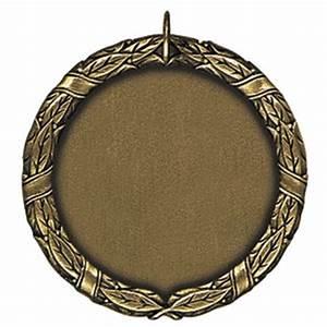 Gold Blank Center 1.5in Medal | Nu Image Engraving & Awards