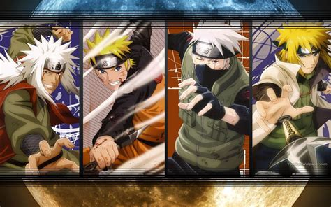 Jiraiya Naruto Kakashi Minato Wallpaper By Weissdrum On