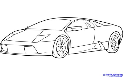 lamborghini sketch easy cartoon drawings of muscle cars pencil drawing collection