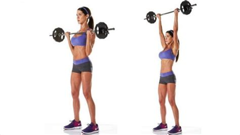 Shoulder Press Dumbbell Standing by Standing Barbell Shoulder Press For Women Google Search