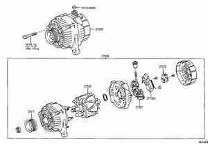 2002 Toyota Camry Alternator Assembly  Alternator  12v