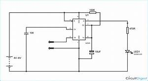 It Is A Simple Touch Switch Circuit Diagram Which Glows