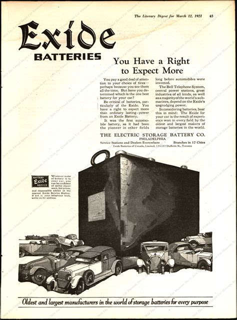 electric storage battery company exide battery