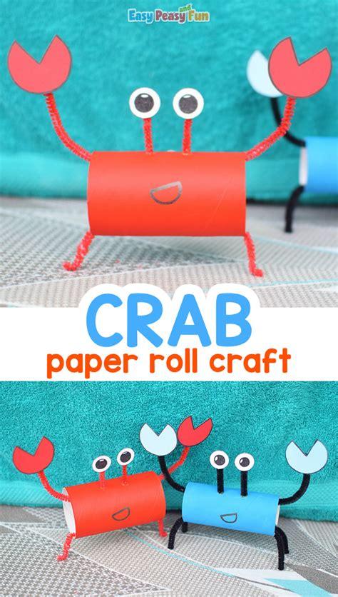 crab toilet paper roll craft easy peasy  fun