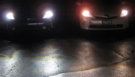 halogen light vs led cleanmpg forums what is that in the drive a prius v 5