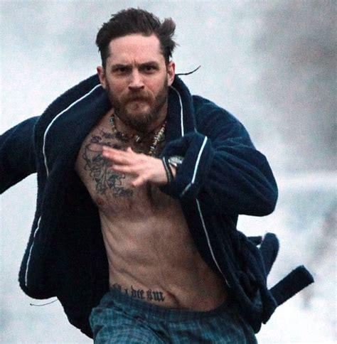 tom hardy runs   underwear  stand   cancer