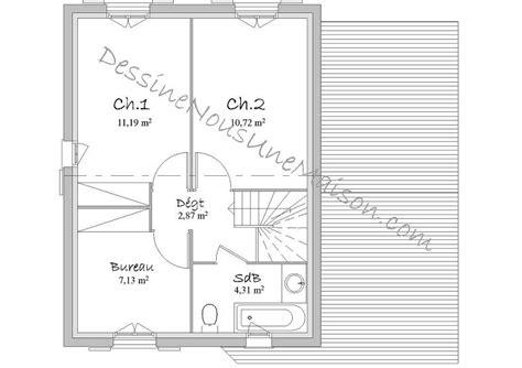 plan maison etage 3 chambres gratuit plans de maisons individuelles avec 3 chambres