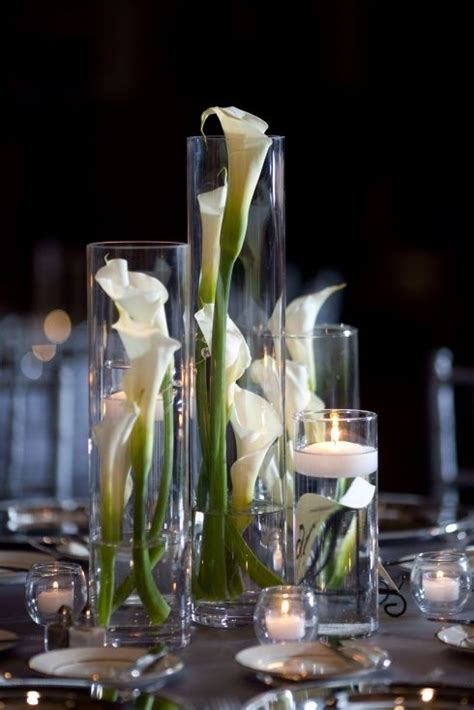 calla lilies reception wedding flowers wedding decor